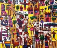 'No Time Tantrum' oil on canvas, 90cm. x 100cm.