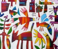 'Snap Flight' oil on canvas,110cm. x 120cm.