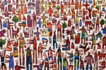 """Colour City""oil on canvas,100cm. x 150cm."