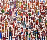 """""""Colour City""""oil on canvas,100cm. x 150cm."""