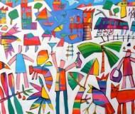 'Rainbow Bay' oil on canvas, 72cm. x 82cm.